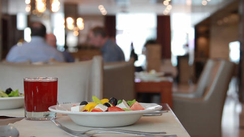 Restaurant Food stock footage