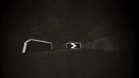 4K Aliens Reveal behind Cinematic Space Station Hangar Gates Vintage 2 Animation