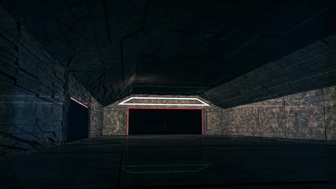 4K Cinematic Space Station Hangar 3 Animation