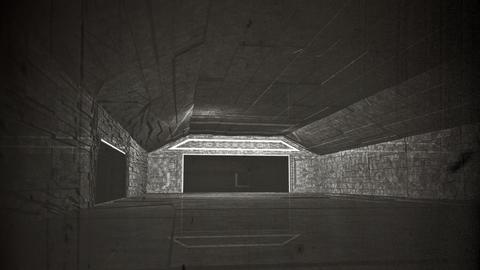 4K Cinematic Space Station Hangar Vintage 1 Animation