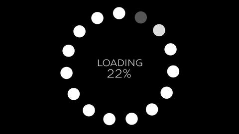4K Computer Loading Sign Animation 16 Animation