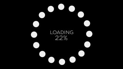4K Computer Loading Sign Animation 17 Animation