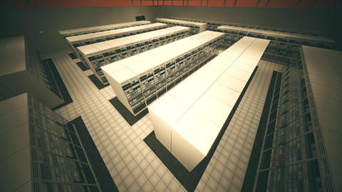 4K Data Center Server Room 3D Animation 8 Animation