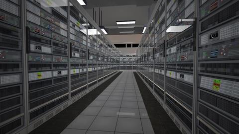 Data Center Server Room 3D Animation 1 Animation