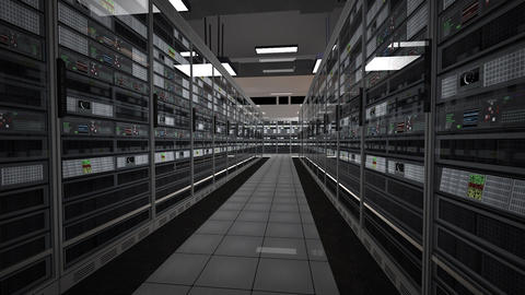 Data Center Server Room 3D Animation 2 Animation
