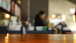 blur coffee shop Archivo