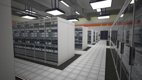 4K Data Center Server Room 3D Animation 11 Animation