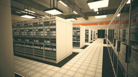 4K Data Center Server Room 3D Animation 12 Animation