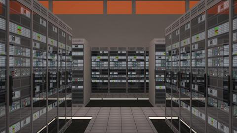 4K Data Center Server Room Vertigo Effect 3D Animation 1 Animation