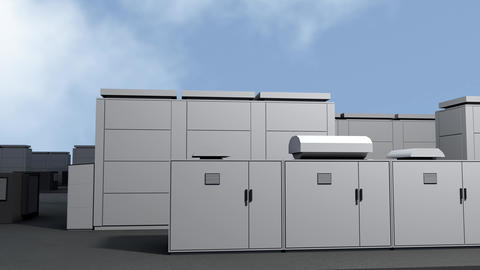 4K NAS Battery Park Energy Storage Station Photorealistic 3D Animation 1 Animation