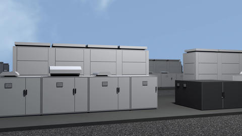 4K NAS Battery Park Energy Storage Station Photorealistic 3D Animation 2 Animation