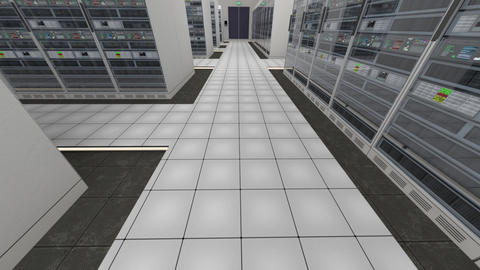 Data Center Server Room Cluster Farm 3D Animation 1 Animation