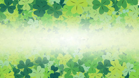 Clover leaf background looped Animación