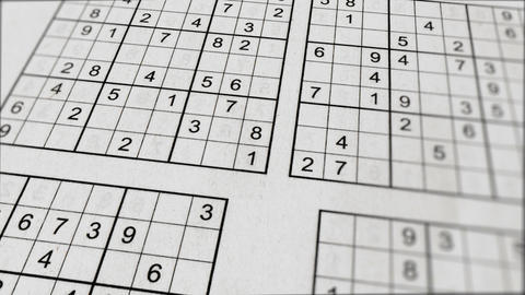 Sudoku Frame with Subgrids of Numbers Animation