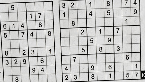 Sudoku Frame with Perplexing Grids of Numbers Animation