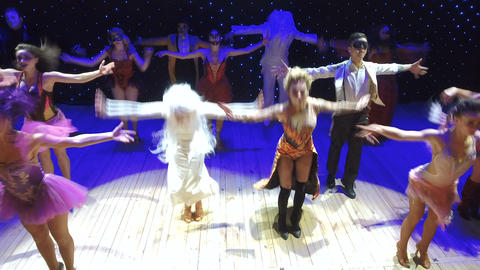 Crazy performance from modern theatre of actors Footage