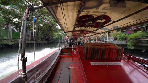 Khlong Saen Sateb canal in Bangkok Footage