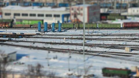 marshalling yard railway station Footage