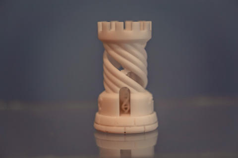 One object photopolymer printed on a 3d printer Photo