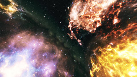 4K Flying through Nebulas in Galaxy out to Outer Space 3D Animation 3 Animation