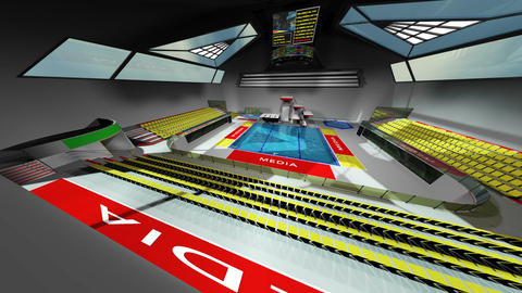Diving Pool Arena Complex Extreme Wide Pan 3D Animation v2 1 Animation