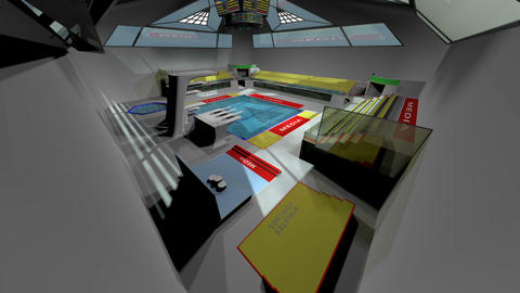 Diving Pool Arena Complex Extreme Wide Tilt 3D Animation 1 Animation
