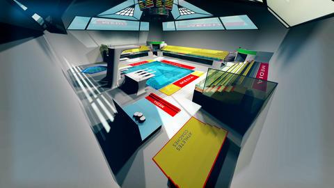 Diving Pool Arena Complex Extreme Wide Tilt 3D Animation 2 Animation