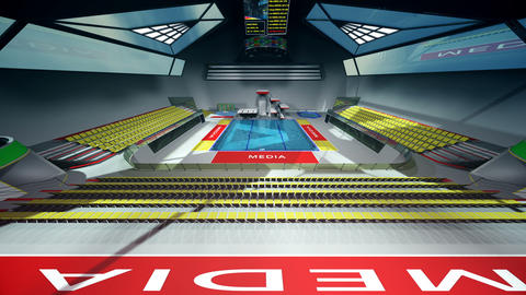 Diving Pool Arena Complex Wide Cinematic Dolly 3D Animation 2 Animation