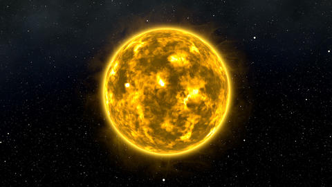 Sun with Flares and Bursts in Space Cinematic 3D Animation 3 Animation