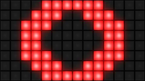 Red Disco nightclub dance floor wall glowing light grid... Stock Video Footage