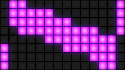 Pink Disco nightclub dance floor wall glowing light grid…, Stock Animation