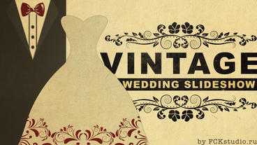 Vintage Wedding Slideshow Apple Motionテンプレート