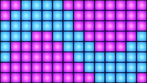 Colorful Disco nightclub dance floor wall glowing light... Stock Video Footage
