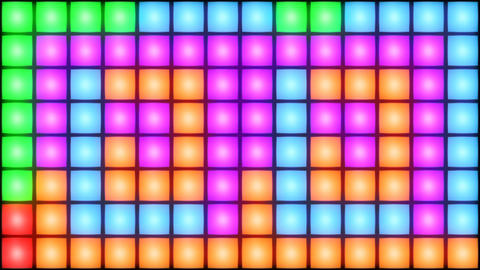 Colorful Disco nightclub dance floor wall glowing light… Stock Video Footage