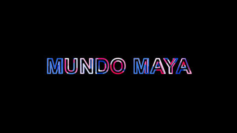 Letters are collected in International Airport MUNDO MAYA, then scattered into Animation