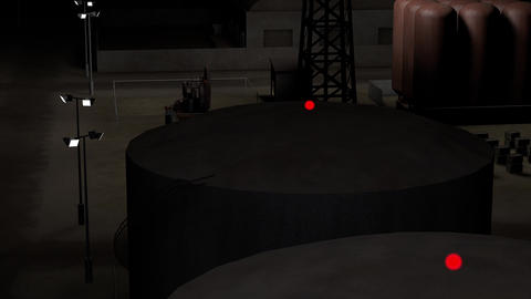 Outpost Factory at Night 3D Animation 1 Animation