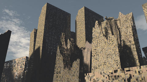 Post Apocalyptic Demolished City 1 Animation