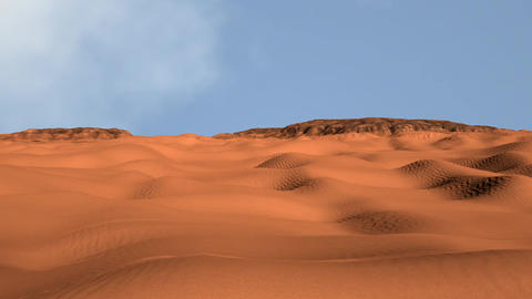 Sand and Rocks Desert 3D Animation 1 Animation