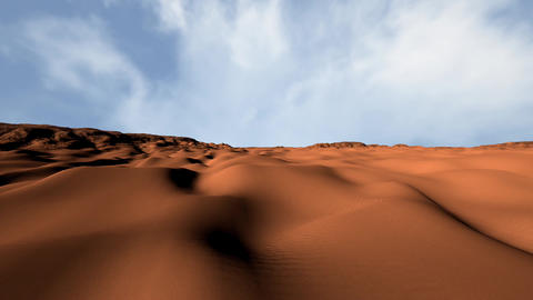 Sand and Rocks Desert 3D Animation Pan 1 Animation