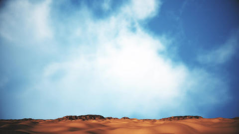 Sand and Rocks Desert 3D Animation Tilt 2 Animation
