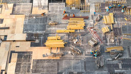 Top view timelapse video of construction site in beginning of building Footage