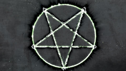 4K Inverted Pentagram Symbol 9 Animation