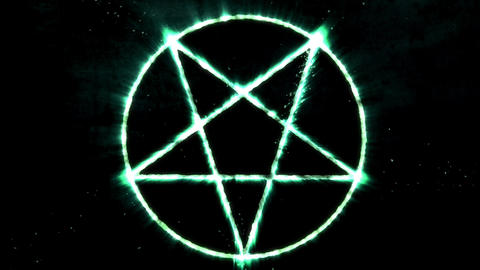 4K Inverted Pentagram Symbol 15 Animation
