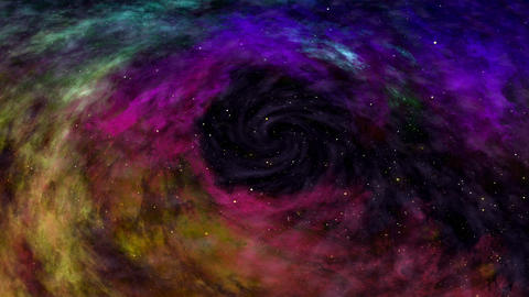 Universe, Beautiful Colorful Space Nebula, Stars and Galaxy Animation