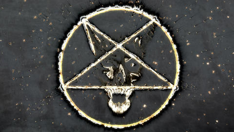 4K Pentagram Symbol with Revealing Satan Face 13 Animation