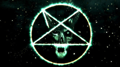 4K Pentagram Symbol with Revealing Satan Face 18 Animation