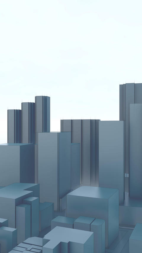 Minimalism abstract 3D city skyscrapers vertical Animation