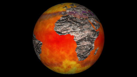 Death of Earth Global Warming Simulation with Matte Animation