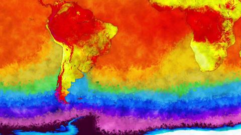 Earth Global Warming Southern Hemisphere 1 Animation