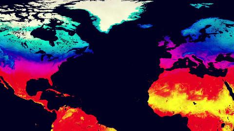 Earth Landmass Global Warming Northern Hemisphere Animation